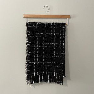 Black and White Large Scarf New with Tags